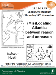 Poster showing two possible locations of Atlantis