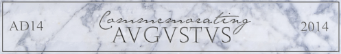 Commemorating Augustus conference logo (banner)