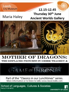 Poster with Daenerys Targaryen and Medea